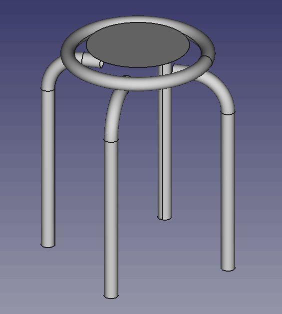 ワイヤーモデル例 パイプ椅子