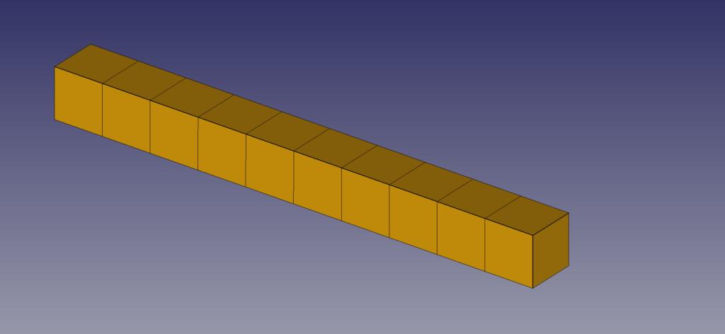 梁モデル 六面体要素
