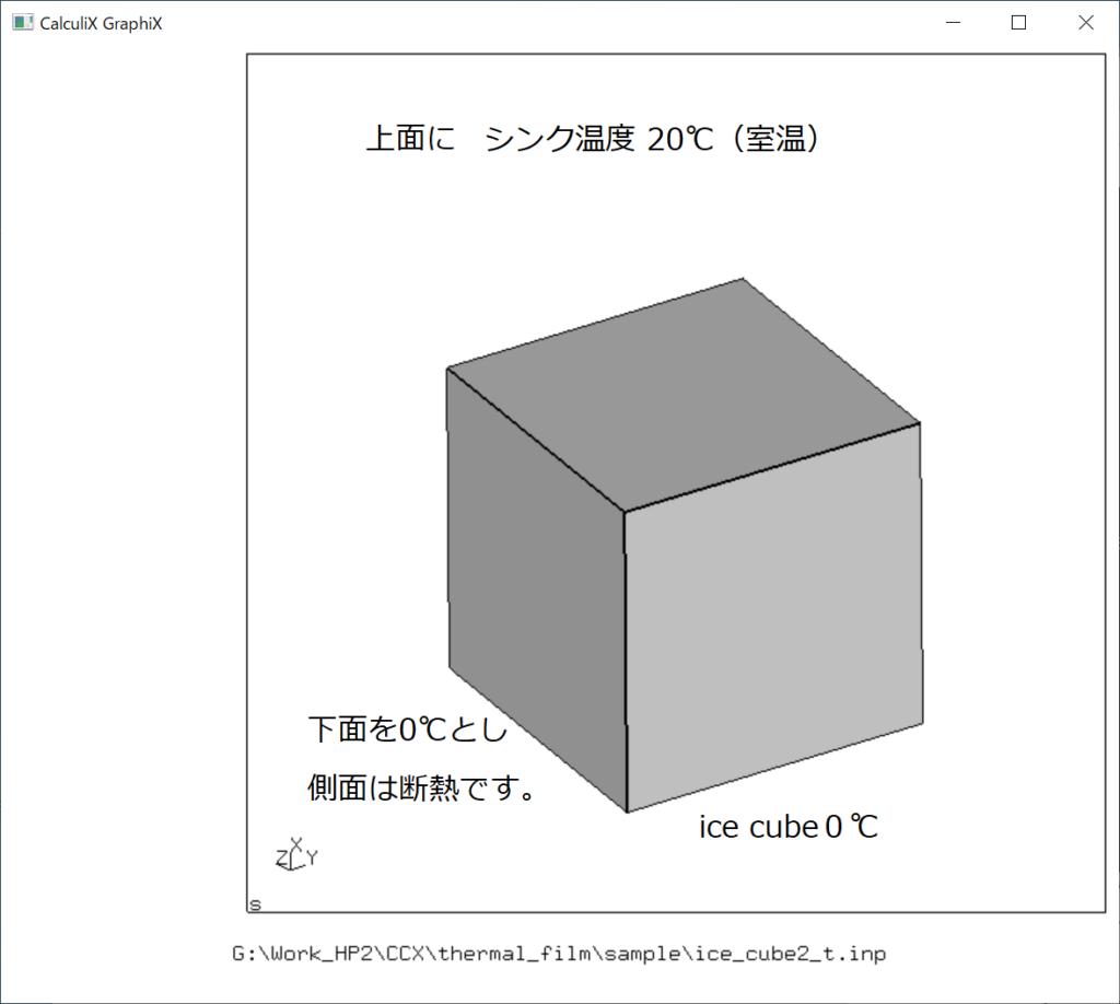 ice cube 熱伝達解析条件